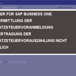 SAP BUSINESS ONE ELSTER
